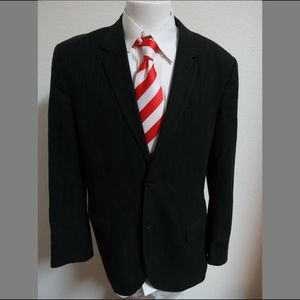 Sz XL Pinstriped MARC JACOBS Mens Wool #88M Blazer